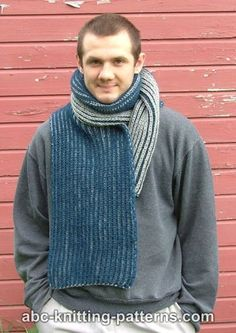 Now here's a thick, warm, scarf to protect you from all the elements this winter season. The Two-Color Brioche Scarf is a stylish winter essential perfect for the man in your life. Knitting Designs, Knitting Patterns Free, Crochet Patterns, Scarf Patterns, Free Knitting, Knitting Socks, Knitting Ideas, Knitting Projects, Free Pattern