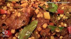 Por Enid Guzman - Chuletas de cerdo a la Jardinera es un plato muy rico y tradicional en la isla
