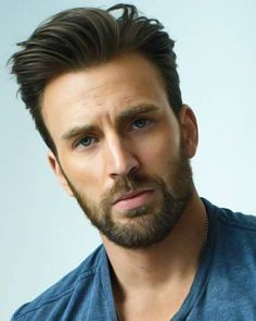 Chris evans - photo - 497 best images about hair, beard. Mens Hairstyles With Beard, Boy Hairstyles, Hair And Beard Styles, Haircuts For Men, Celebrity Hairstyles, Chris Evans Haircut, Chris Evans Beard, Chris Evans Funny, 2018 Haircuts