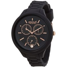 f33327e1005 Womens Rip Curl Alana Horizon Multieye Watch Black Cotton (2.275 ARS) ❤  liked on