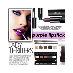 """◇BOLD LIPS, SMOKEY EYES◇"" by tamsy13 ❤ liked on Polyvore featuring beauty, Bobbi Brown Cosmetics, Burberry and purplelipstick"