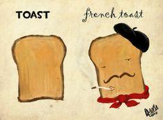 C'est toast en francais!
