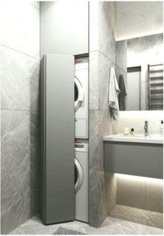 Grey Laundry Rooms, Laundry Room Bathroom, Bathroom Floor Tiles, Laundry Room Design, Basement Bathroom, Bathroom Sink Design, Bathroom Design Luxury, Home Interior Design, Deco Design