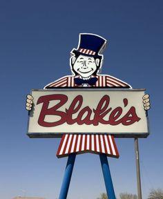 Blakes Lotta Burger Green chile cheeseburger and Vanilla Coke