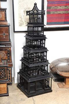 Seven Story Bird Cage, The bird cage is equally a property for the birds and a pretty tool. You are able to choose anything you need among the bird cage types and get far more special images. Style Asiatique, Antique Bird Cages, Bronze Art, The Caged Bird Sings, Vintage Birds, Decorative Objects, Decorative Bird Cages, Bird Feathers, Chinoiserie