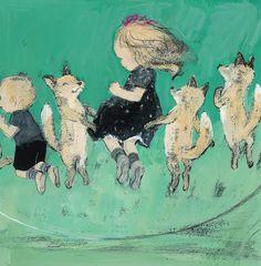 The Fox Wish by Kimiko Aman, illustrated by Komako Sakai Art And Illustration, Illustration Mignonne, Watercolor Illustration, Girl Illustrations, Japanese Art Modern, Artist Art, Cat Art, Book Art, Drawings