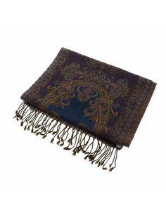Echarpe Homme - Accessoire de mode en laine motifs Paisley: Amazon.fr: Vêtements et accessoires