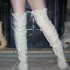 Crochet Pattern Boots--- number 65 -------------Sexy Slouch Lace Up Thigh High Boots---Street Boots------------Girls you gotta see these