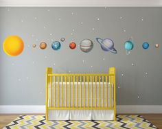 Huge Solar System Wall Decals WDSET10019B by GoGoDragonBusiness