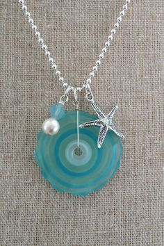 Aquamarine Starfish www.merjoolz.com #jewelry #summer