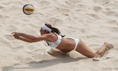 "American Beach Volleyball Players Explain Why They'll Continue To Wear Bikinis.    Physical pride/screw the body police. ""I'm not a sex symbol; I'm an athlete,"" May-Treanor's teammate Kerri Walsh told Sports Illustrated. And May-Treanor adds that she prefers the revealing outfits because, ""What you see is what you get—there's no airbrushing."""