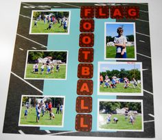 scrapbooking layouts football - Google Search