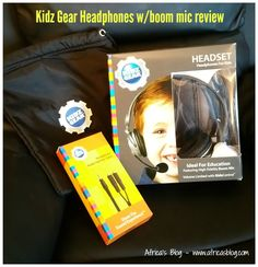 JUST POSTED - Kidz Gear Headphones with Boom Mic Review and #Giveaway!!  . http://africasblog.com/2015/04/26/kidz-gear-headphones-review-giveaway/