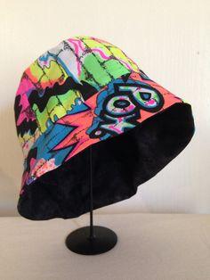 Reversible neon 80's hat by yorkpatty on Etsy, $22.00 www.yorkpatty.etsy.com