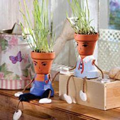 Manualidades Virshy: Hombres con pelos de hierbas!