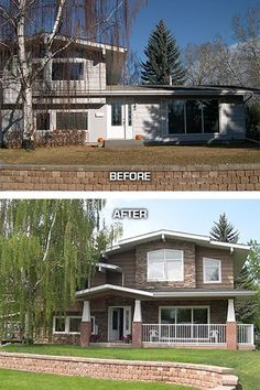 Another amazing before and after of a ranch redo! | House projects ...