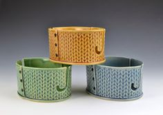 Yarn Bowl knitting bowl crochet bowl by Creativewithclay on Etsy https://www.etsy.com/listing/222875399/yarn-bowl-knitting-bowl-crochet-bowl