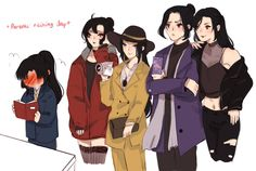 """""""Talked about Jin Ling's tired uncles yesterday with Mani and I realized, Jin Ling actually has FOUR uncles. So here's an au where Jin Ling is spoiled by his four (living) uncles. Cutting Edge Stencils, Mafia, Drinking Buddies, Manga Quotes, Natsume Yuujinchou, The Grandmaster, S Stories, Mom And Baby, Little Princess"""