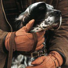 Warme Lederhandschuhe in hellbraun von Barbour
