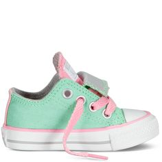 These mint/pink baby chucks are super cute!