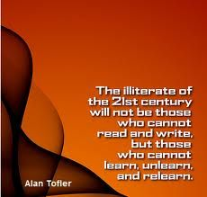 learn, unlearn and relearn