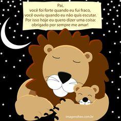Mensagem Dia dos Pais em uma linda ilustração de Pai leão com seu filhote. Cartão Dia dos Pais GRÁTIS para você baixar ou compartilhar. VEJA MENSAGENS >