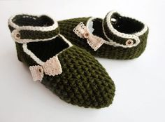 green slippers ,crocheted home slippers ,hand crochet home shoes socks with lace ,room shoes ,Turkish crochet slippers on Etsy, $30.00
