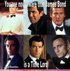 """Bond, James Bond"" actors - Sean Connery 1971 and George Lazenby Roger Moore Timothy Dalton Pierce Brosnan and Daniel Craig Roger Moore, Bond Girls, Sean Connery, Daniel Craig, Movie Stars, Movie Tv, Larry Wilcox, Alex Rider, Jason Bourne"