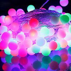 52 LED 9M Waterproof Conecte ao ar livre do feriado do Natal Decoração RGB Luz LED Luz Cordas da UE (220V) – BRL R$ 26,35