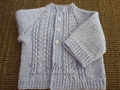 "CraftsAdore: ""Handsome Cables"" Knitted Baby Boy Cardigan Free Knitting Pattern"