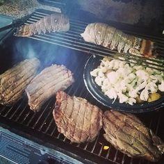 Ribeye steak, lobster, roasted cauliflower and potatoes at Regency Isl,  #alabama #beach #fatheroftheyear #gulfshores #husbandoftheyear #orangebeach #orangebeachcondo #vacay