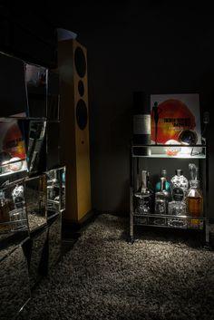 Serving Cart, Gray Walls, Gin, Man Cave, Liquor Cabinet, Whiskey, Porcelain, Design, Home Decor