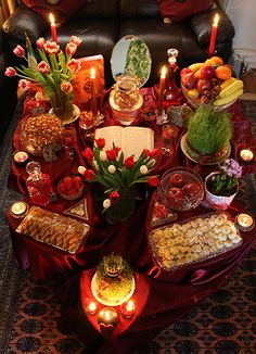 Beautiful Haft Seen table for Persian New Year.