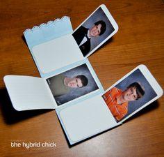 Grandparents Wallet Mini-Album : voir le tuto ici : http://www.thehybridchick.com/2011/09/grandparents-wallet-mini-album/