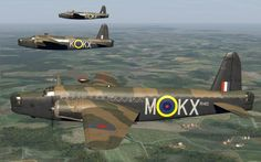 Wellington bombers from 311 Squadron RAF (KX). Planes M, K, and C.