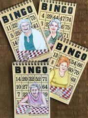"""bingo ladies notebooks 4"""" x 6.5"""""""