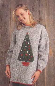 Knit this tunic with our pattern. Pattern Books, Pattern Paper, Tunic Pattern, Sweater Outfits, Knit Patterns, Christmas Sweaters, Christmas Tree, Knitting, Crochet