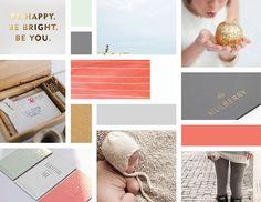 Ashlyn-Dawson-Design-Board Book Design, Layout Design, Web Design, Paper Design, Color Schemes Design, Gold Color Palettes, Grey And Coral, Graphic Design Studios, Layout Inspiration