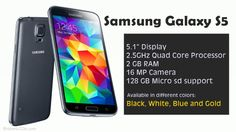 Samsung Galaxy is equipped with a of display, Camera, GHz Quad Core processor, RAM and offers extended memory of up to via SD Card. Samsung Galaxy 5, Samsung Mobile, Sd Card, Quad, Specs, Smartphone, Quad Bike
