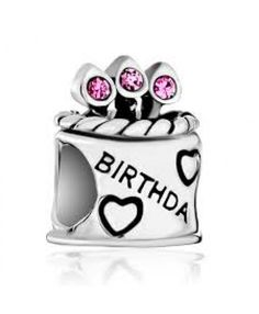 01494c01b8be6 Pugster Pink October Crystal Cz Birthday Cake Sterling Silver Beads Charms  Bracelets Fit All Brands , Fashion Sterling Silver Jewelry