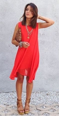 Red Dress Outfits | #Fashion #Apparels
