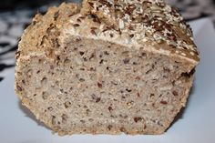 Rye and spelt bread with sunflower, sesame and brown linseed seeds