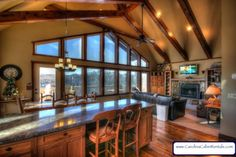 Deerwood Retreat View of Gre Mountain Style, Mountain View, Window Wall, Table Games, Windows, Vacation, House, Cabin, Board Games