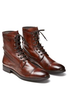To Boot - Lincoln tall leather lace-up boots (at Park & Bond)
