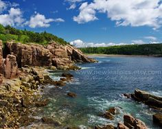 Coastal Maine landscape print Acadia photo beach by NewLeafPics, $20.00