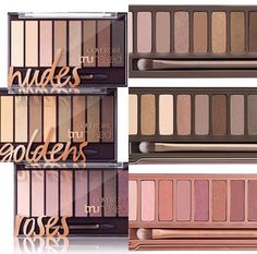 ~~~> Makeup Dupes for Urban Decay Naked palettes
