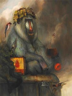 Surreal Animal Paintings by Martin Wittfooth – Inspiration Grid Michael Sowa, Gary Baseman, Jack Vettriano, Vladimir Kush, Mary Blair, Audrey Kawasaki, Martin Wittfooth, Pet Monkey, Monkey Art