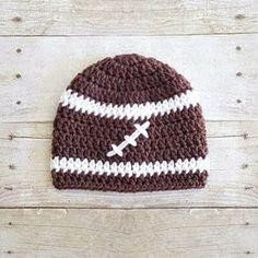 6ac8a35e462 Crochet Football Sports Team Beanie Hat Newborn Baby Infant Toddler Child  Adult Photography Photo Prop Handmade