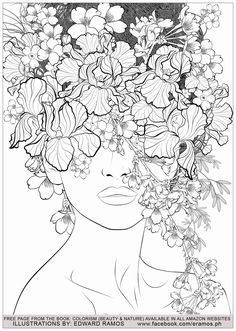 Color therapy An Anti Stress Coloring Book Beautiful Beauty and Nature Edward Ramos 7 Anti Stress Adult Coloring Pages Anti Stress Coloring Book, Illustration, Drawings, Elements Of Art, Art, Mandala Coloring Pages, Nature Inspiration, Coloring Pages Nature, Color