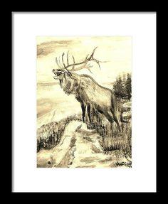 """Big Elk Mountain"" watercolor painting from the art studio of Scott D Van Osdol available at fineartsamerica.com"
